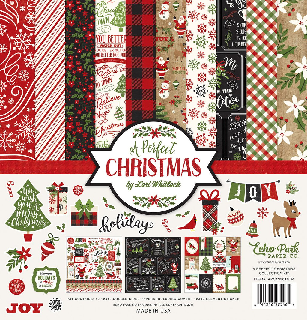 "Echo Park A Perfect Christmas Collection Kit 12""x 12"""