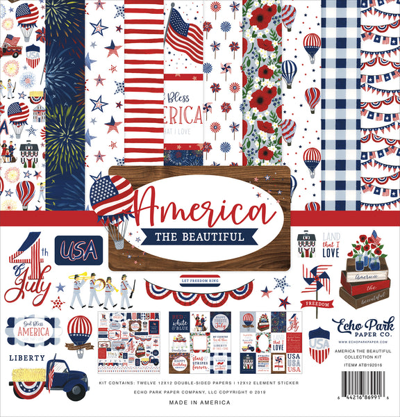 Echo Park America The Beautiful Collection 12x12 page kit | Craftastic Cabin Inc