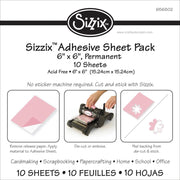 "Sizzix 6""x 6"" Double Side Adhesive 10pcs"
