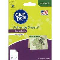 "Glue Dots Adhesive Sheets 3.5""x 2.5"" For Vellum - 10pc"