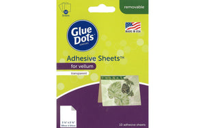 "Glue Dots Adhesive Sheets 3.5""x 2.5"" For Vellum - 10pc - Craftastic Cabin Inc"