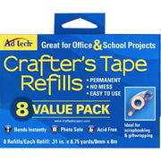 Ad Tech Crafter's Tape REFILLS 8/Pkg Value Pack