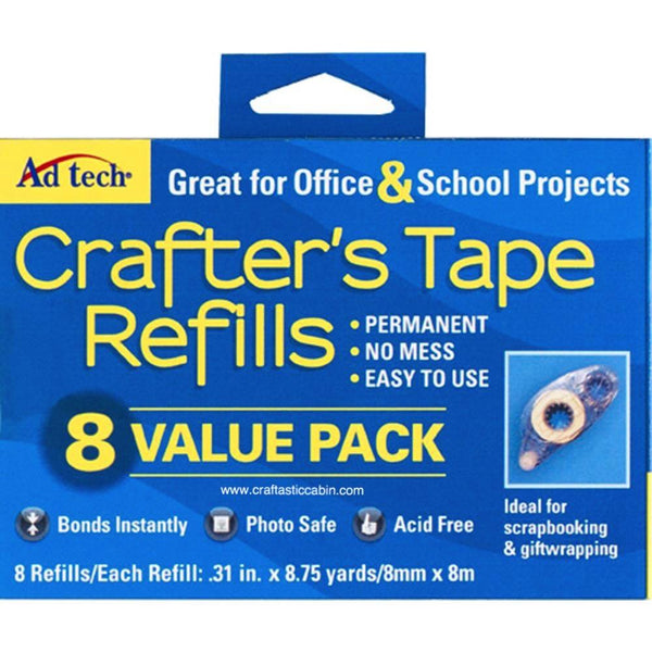 Ad Tech Crafter's Tape REFILLS 8/Pkg Value Pack - Craftastic Cabin Inc
