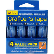 "Ad Tech Crafter's Tape Permanent 4/Pkg .31""X315"""