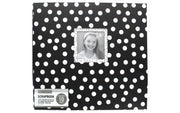 "K&Company Scrapbook Album 12x12"" Window Dots Black/White"