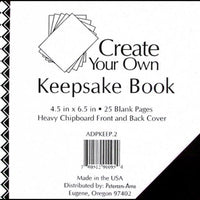 "Paper Accents Create Your Own Keepsake Book 6.5""x 4.5"" 25 page Black Cover"