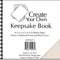 "Paper Accents Create Your Own Keepsake Book 6.5""x 4.5"" 25 page White Cover"