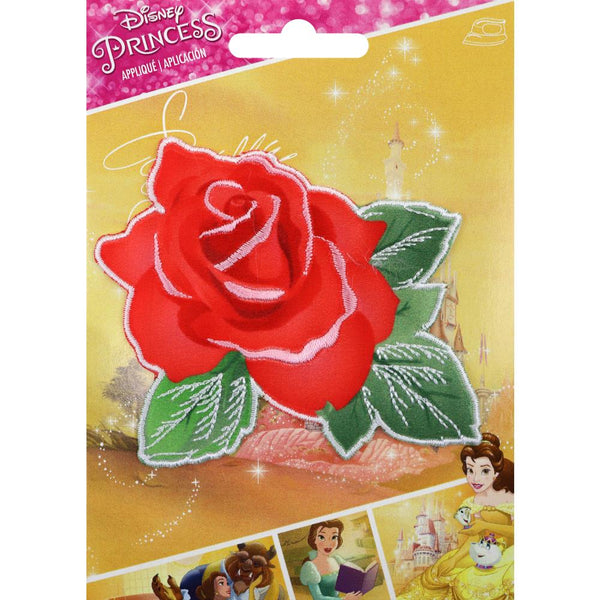 Wrights Disney Princess Iron-On Applique - Beauty & Beast Rose | Craftastic Cabin Inc