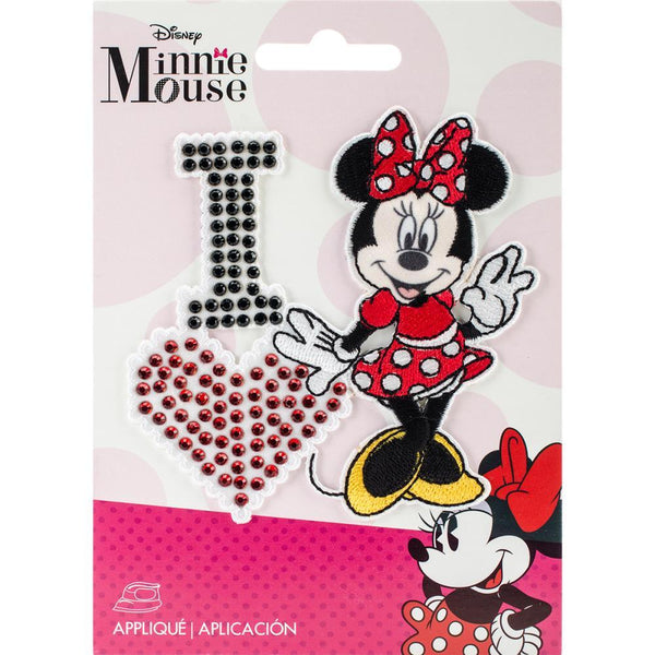 I Love Minnie - Wrights Disney Mickey Mouse Iron-On Applique | Craftastic Cabin Inc