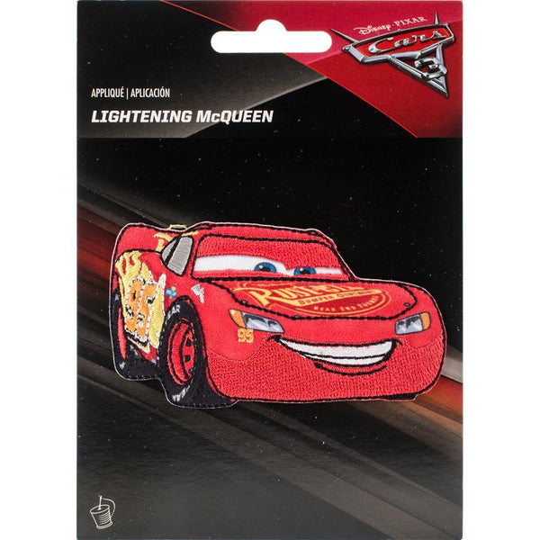 Lightning McQueen - Wrights Disney Cars Iron-On Applique | Craftastic Cabin Inc