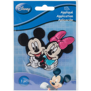 Mickey & Minnie - Wrights Disney Mickey Mouse Iron-On Applique - Craftastic Cabin Inc