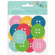 American Crafts Pebbles Embellishment Birthday Wishes Buttons