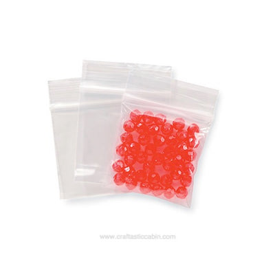 Darice Reclosable Poly Bags - 1.75 X 1.75 Inches - 100 Pieces