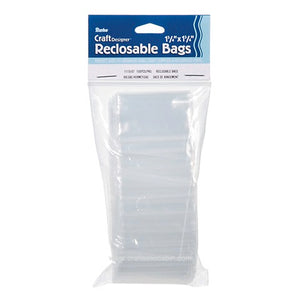 Darice Reclosable Poly Bags - 1.75 X 1.75 Inches - 100 Pieces | Craftastic Cabin Inc