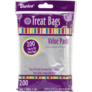"Darice Treat Bags 3""X4.75"" 200/Pkg Clear"
