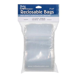 Bags - Reclosable - 3 X 4 Inches - 100 Pieces | Craftastic Cabin Inc