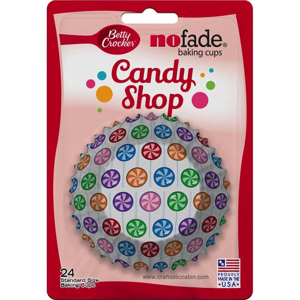 Betty Crocker Standard Baking Cups Candy Shop Lollipops 24/Pkg | Craftastic Cabin Inc