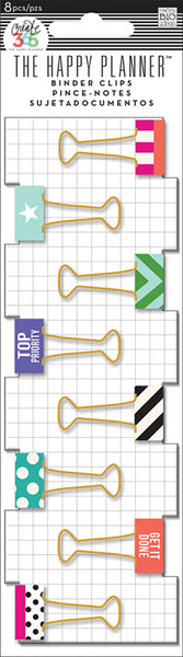 Me & My Big Ideas Create 365 Happy Planner Binder Clips Top Priority | Craftastic Cabin Inc