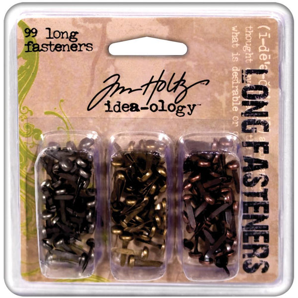 Tim Holtz Idea-ology Fasteners Long Brads 99pc | Craftastic Cabin Inc