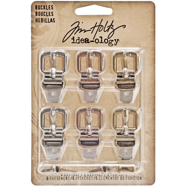 Tim Holtz Idea-ology Buckles | Craftastic Cabin Inc