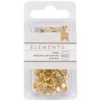 American Crafts Elements Brads, Mini, 100pc sets MULTIPLE COLORS