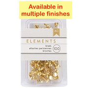 American Crafts Elements Brads 50pc sets MULTIPLE COLORS