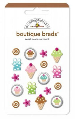 Doodlebug Brads Boutique 18pc Sweet Treat