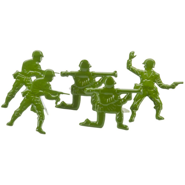 Eyelet Outlet Shape Brads 12/Pkg - Army Men | Craftastic Cabin Inc