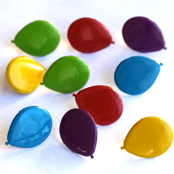 Eyelet Outlet Shape Brads 12/Pkg - Balloons - Bright | Craftastic Cabin Inc