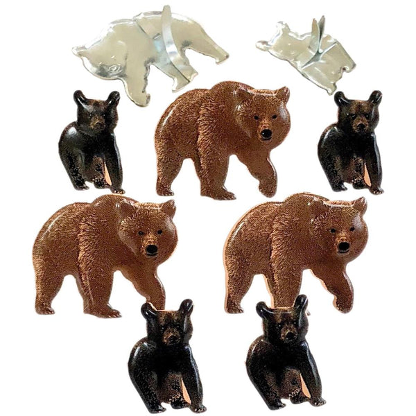 Eyelet Outlet Shape Brads 12/Pkg - Bear | Craftastic Cabin Inc