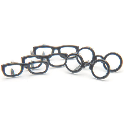 Shape Brads 12/Pkg - Black Glasses