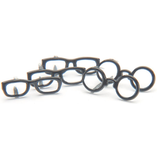Eyelet Outlet Shape Brads 12/Pkg - Black Glasses | Craftastic Cabin Inc