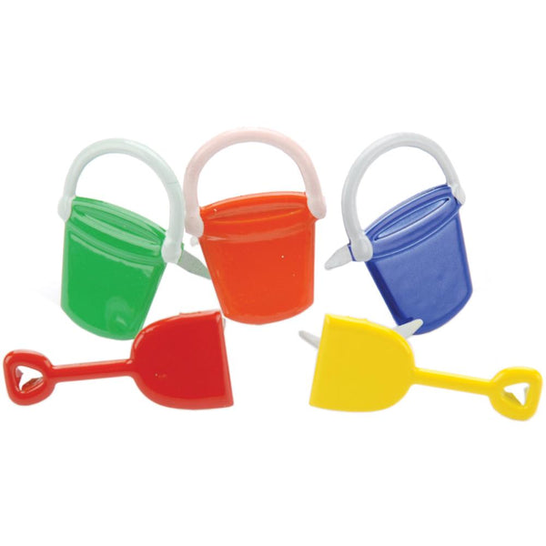 Eyelet Outlet Shape Brads 12/Pkg - Buckets & Shovels | Craftastic Cabin Inc