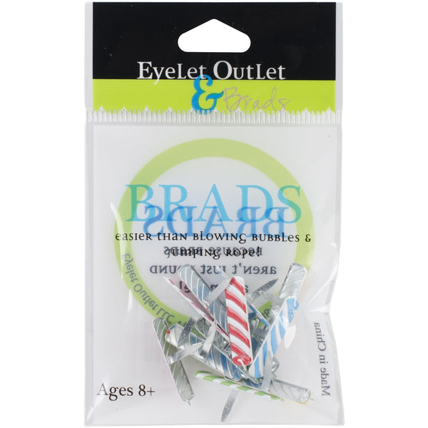 Eyelet Outlet Shape Brads 12/Pkg - Candle | Craftastic Cabin Inc