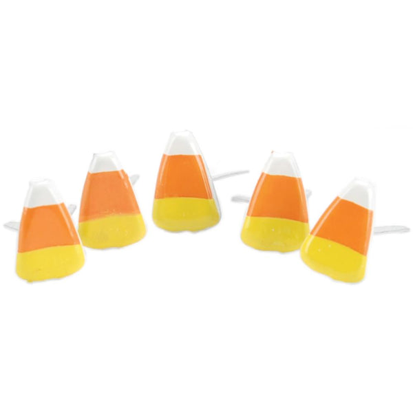 Eyelet Outlet Shape Brads 12/Pkg - Candy Corn | Craftastic Cabin Inc