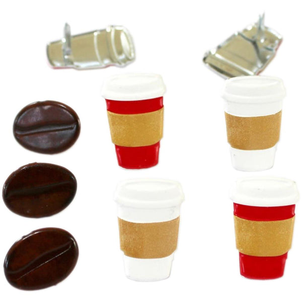Eyelet Outlet Shape Brads 12/Pkg - Coffee | Craftastic Cabin Inc