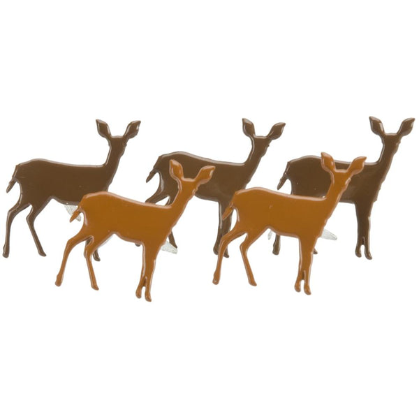 Eyelet Outlet Shape Brads 12/Pkg - Deer | Craftastic Cabin Inc