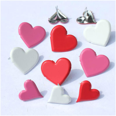 Eyelet Outlet Shape Brads 12/Pkg - Heart