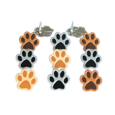 Eyelet Outlet Shape Brads 12/Pkg - Paws