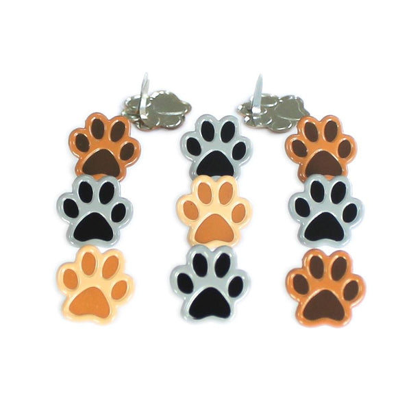 Eyelet Outlet Shape Brads 12/Pkg - Paws | Craftastic Cabin Inc