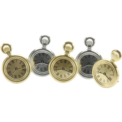 Shape Brads 12/Pkg - Pocket Watches