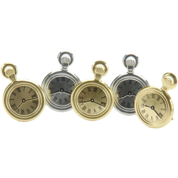 Eyelet Outlet Shape Brads 12/Pkg - Pocket Watches | Craftastic Cabin Inc