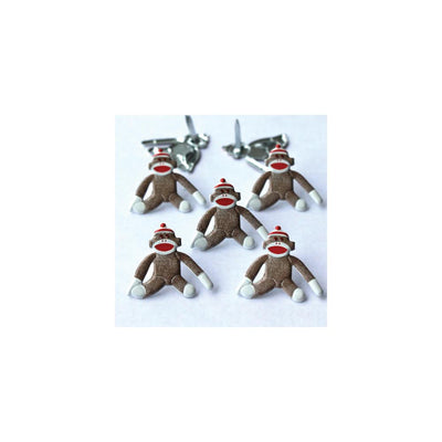 Shape Brads 12/Pkg - Sock Monkeys