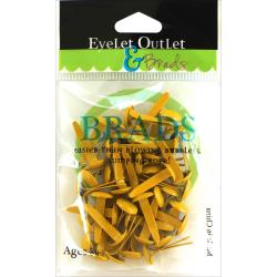 Eyelet Outlet Round Brads 8mm 40/Pkg - Yellow - Craftastic Cabin Inc