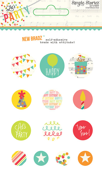 Simple Stories Collection Lets Party Bradz | Craftastic Cabin Inc