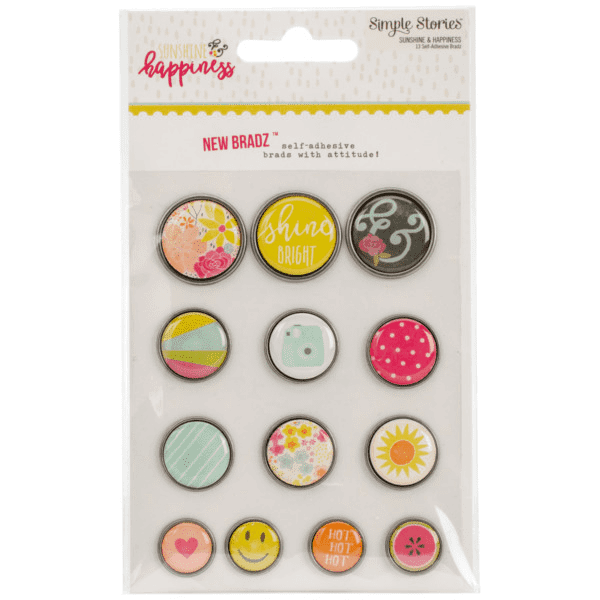 Simple Stories Collection Sunshine & Happiness Bradz | Craftastic Cabin Inc