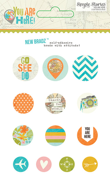 Simple Stories Collection You Are Here Bradz | Craftastic Cabin Inc