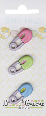 Buttons Galore Baby Hugs DIAPER PINS Buttons