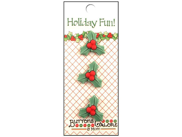 Buttons Galore Holiday Fun Holly | Craftastic Cabin Inc