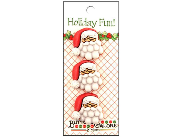 Buttons Galore Theme Button Holiday Fun Santa | Craftastic Cabin Inc
